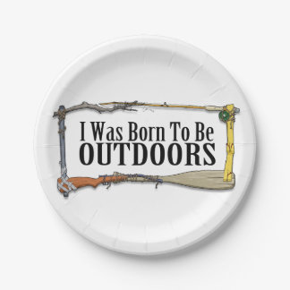 Born To Be Outdoors Paper Plates