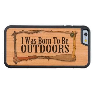 Born To Be Outdoors Wood Smartphone Case