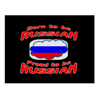 Born to be Russian, proud to be Russian Postcards