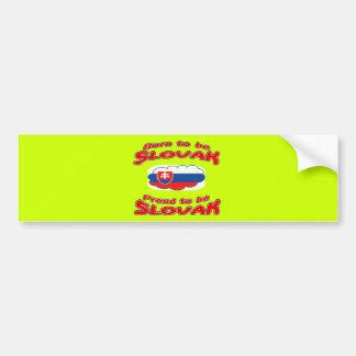 Born to be Slovak, proud to be Slovak Bumper Sticker