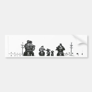 BORN TO BE WILD B&W BUMPER STICKER