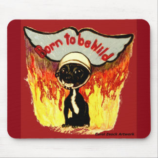 Born to Be Wild Chihuahua by Carol Zeock Mouse Pad