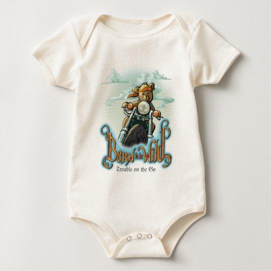 Born to be Wild Customizable Text Baby Bodysuit