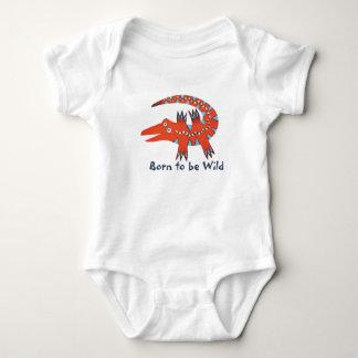 """Born to be Wild"" Gator Baby Bodysuit"