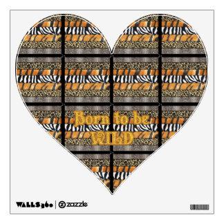 Born to be Wild Safari Animal Print Wall Graphic