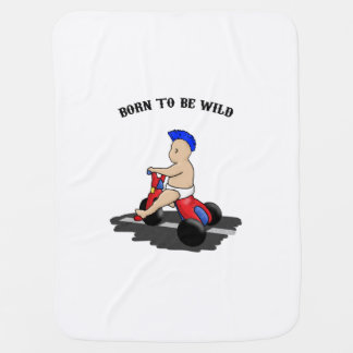 Born to be wild stroller blanket