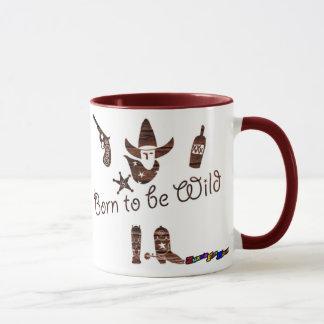 Born to be Wild - wood rustic mug