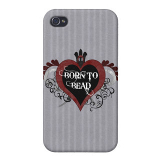 Born to Bead heart design iPhone 4/4S Cases
