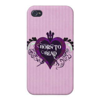 Born to Bead heart design iPhone 4/4S Cover