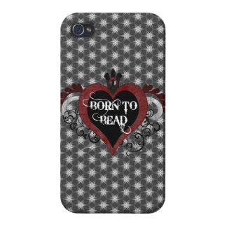 Born to Bead heart Case For iPhone 4