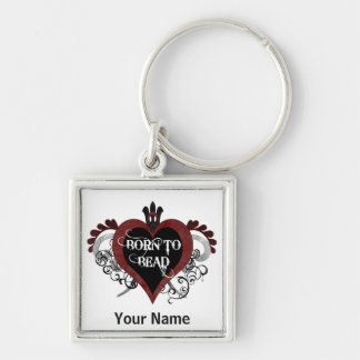 Born to Bead heart keychain (red and black)