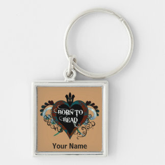 Born to Bead heart keychain (teal)
