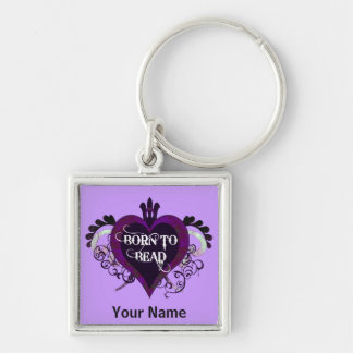 Born to Bead keychain (purple)