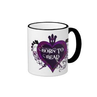 Born to Bead (purple) mug
