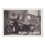 "born to bike 3.5"" x 5"" invitation card"