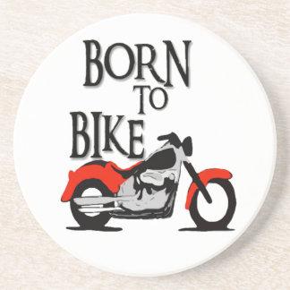Born to bike drink coaster