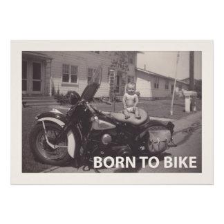 born to bike photographic print