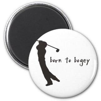 born to bogey 2 inch round magnet