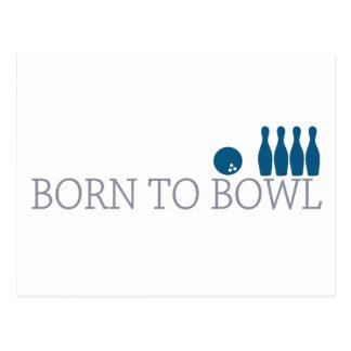 Born To Bowl Postcard