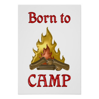 Born to Camp Poster