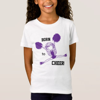 Born to Cheer - Purple Girl Cheerleader T-Shirt