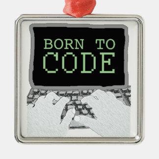 Born to Code Christmas Tree Ornament