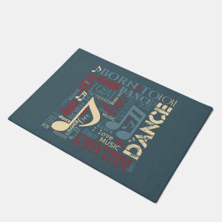 Born to Dance Blue ID277 Doormat