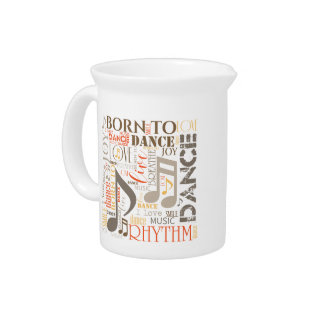 Born to Dance Blue ID277 Drink Pitcher