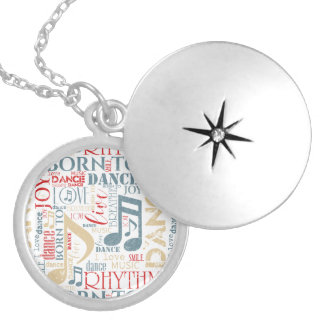 Born to Dance Blue ID277 Locket Necklace