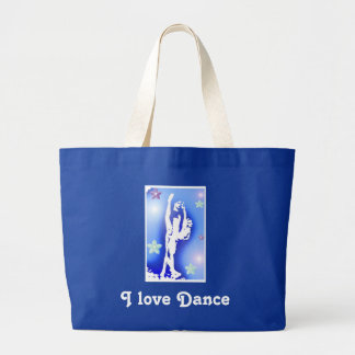 Born to Dance, I love Dance Large Tote Bag