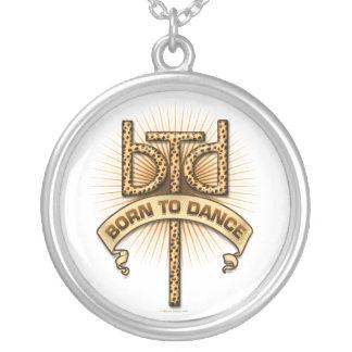 Born To Dance (leopard) Round Pendant Necklace