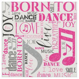 dance words fabric zazzle