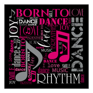 Born to Dance Pink ID277 Poster