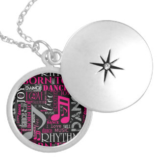 Born to Dance Pink ID277 Silver Plated Necklace