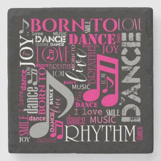 Born to Dance Pink ID277 Stone Coaster