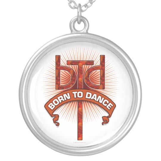 Born To Dance (redstone) Silver Plated Necklace