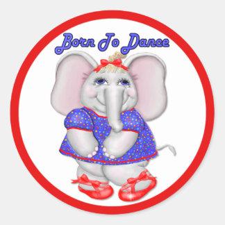 Born to Dance Classic Round Sticker