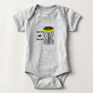 Born to Disc Golf baby onsie body suit Baby Bodysuit