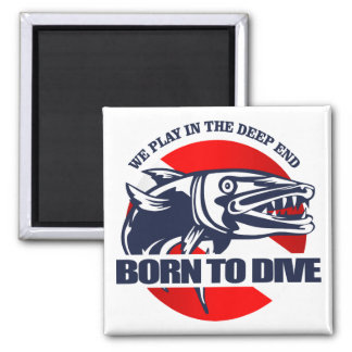 Born to Dive (Barracuda) Magnet