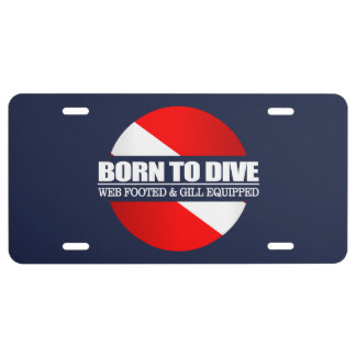 Born To Dive (rd) License Plate