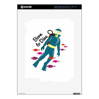 Born To Dive iPad 3 Skin