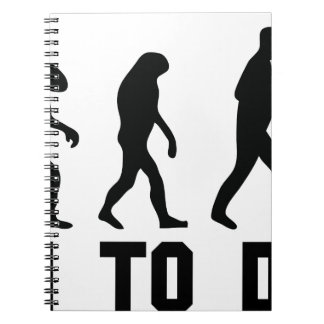 born to drink evolution spiral notebooks