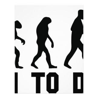 born to drink evolution personalized letterhead