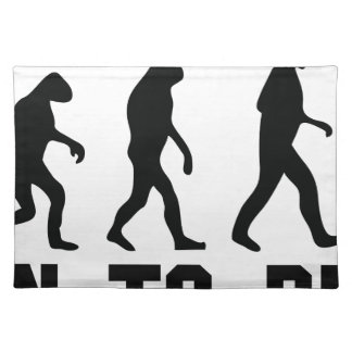 born to drink evolution placemats