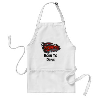 Born To Drive Adult Apron