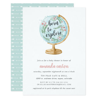 Born to Explore Baby Shower Invitation