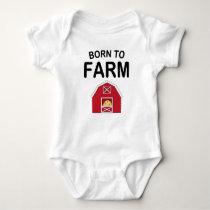 Born To Farm Baby Bodysuit