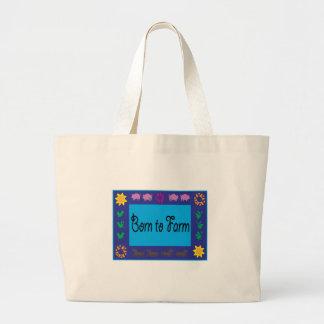 Born To Farm Canvas Bag