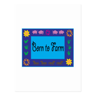 Born To Farm Postcard