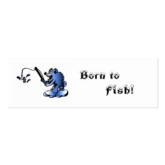 Born to, Fish! bookmark Double-Sided Mini Business Cards (Pack Of 20)